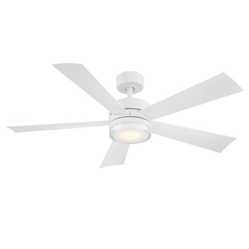 Wynd Matte White 52-Inch 3500K LED Downrod Ceiling Fans