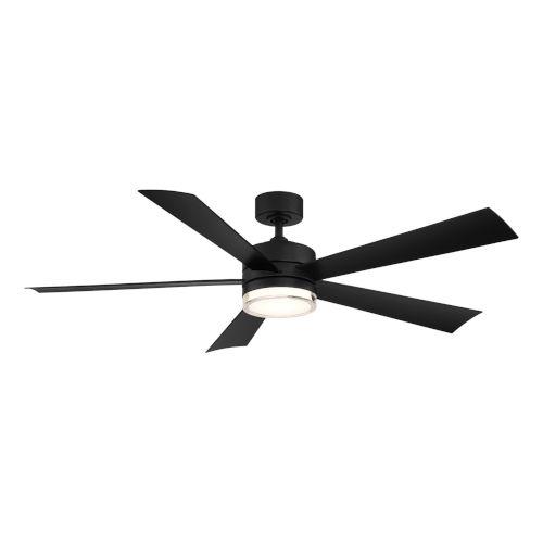 Wynd Matte Black 52-Inch ADA LED Ceiling Fan