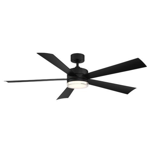 Wynd Matte Black 60-Inch ADA LED Ceiling Fan, 2700K