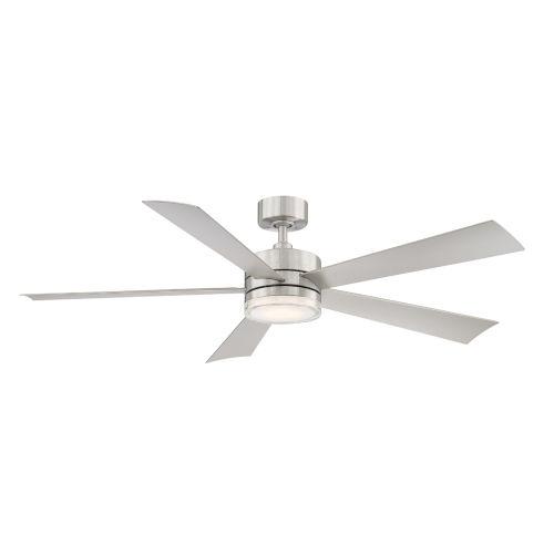 Wynd Stainless Steel 60-Inch ADA LED Ceiling Fan, 2700K