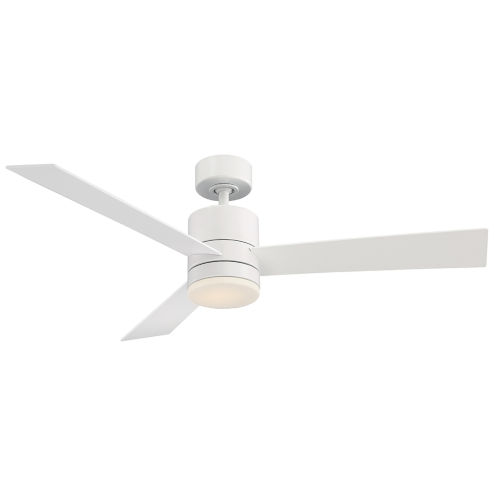 Axis Matte White 52-Inch 3000K LED Downrod Ceiling Fans