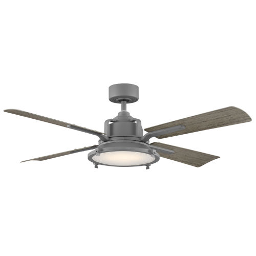 Nautilus Graphite and Weathered Wood 56-Inch ADA LED Ceiling Fan