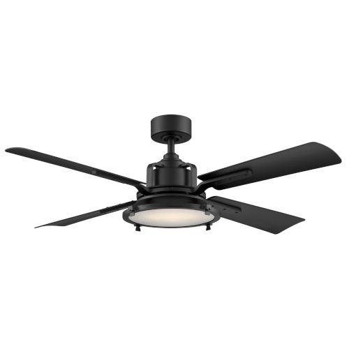 Nautilus Matte Black 56-Inch ADA LED Ceiling Fan
