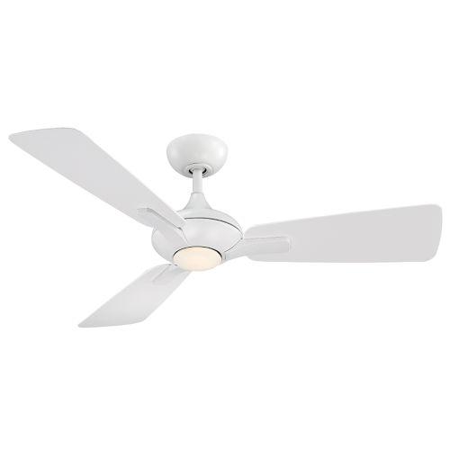 Mykonos Matte White 52-Inch 3500K LED Downrod Ceiling Fans