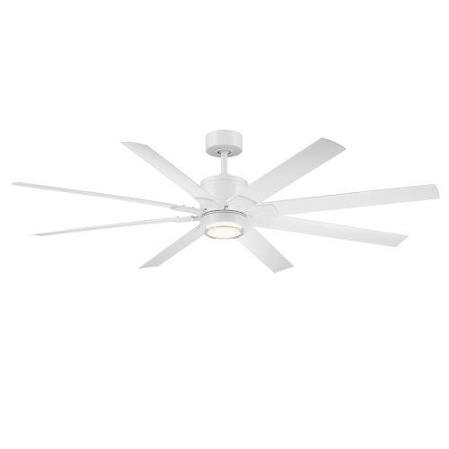Renegade Matte White 66-Inch ADA LED Ceiling Fan, 3500K