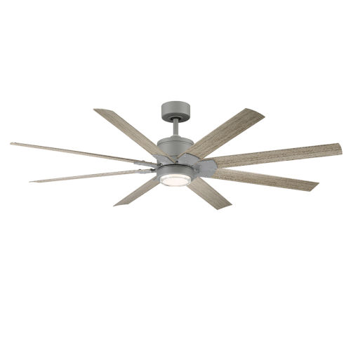 Renegade Graphite and Weathered Wood 66-Inch ADA LED Ceiling Fan