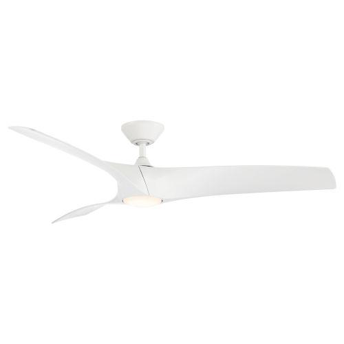 Zephyr Matte White 62-Inch ADA LED Ceiling Fan, 2700K