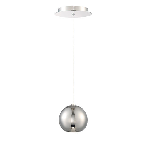 Modern Forms Acid Polished Nickel 4-Inch LED Mini Pendant