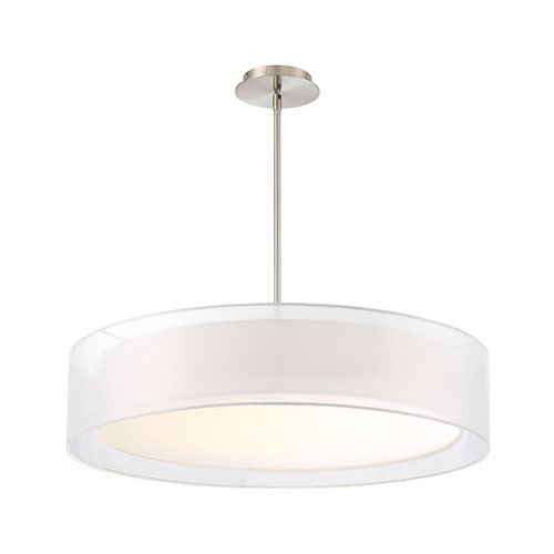 Metropolis Brushed Nickel 30-Inch LED Pendant
