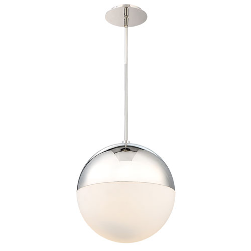 Modern Forms Punk Polished Nickel 14-Inch LED Pendant