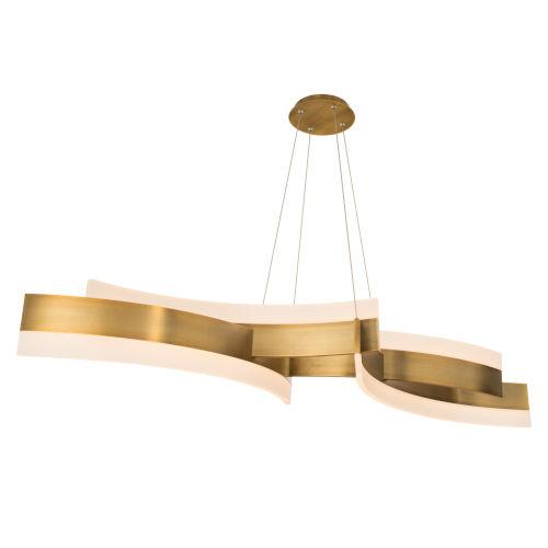 Arcs Aged Brass LED Chandelier