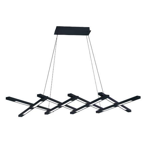 Scissors Black LED  Chandelier