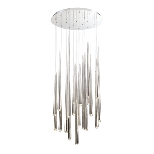 Modern Forms Cascade Polished Nickel 26-Inch LED Pendant