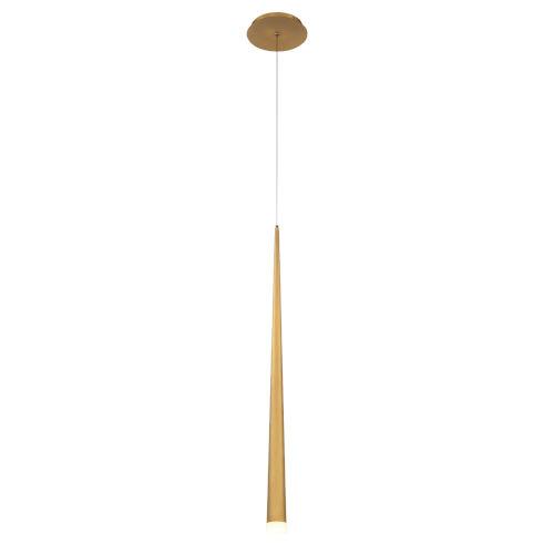 Cascade Aged Brass 28-Inch LED Mini Pendant