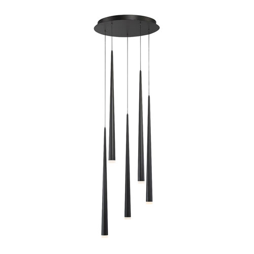 Cascade Black 17-Inch LED Pendant