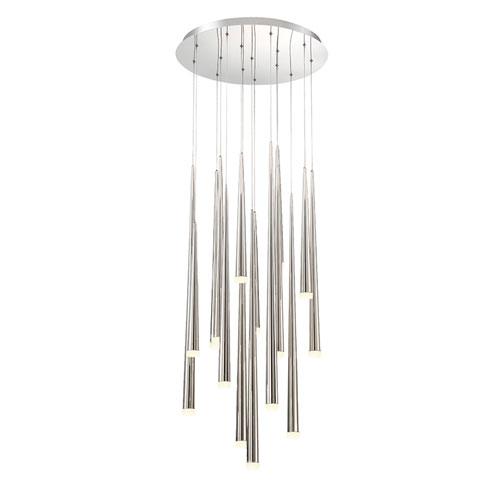 Cascade Polished Nickel  23-Inch LED Pendant
