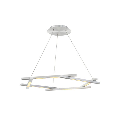 Modern Forms Metric Brushed Aluminum 12-Inch LED Pendant