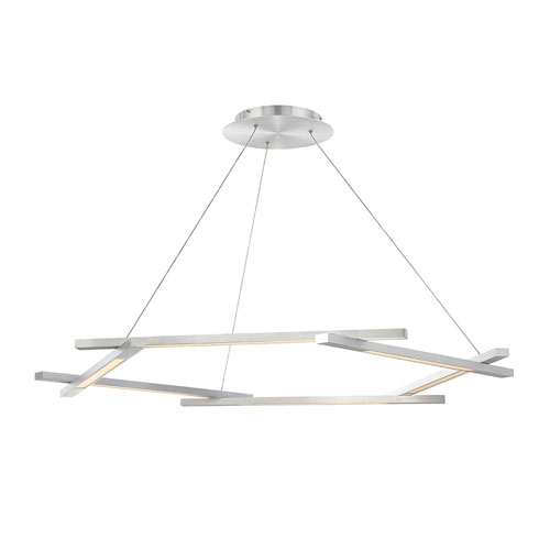 Metric Brushed Aluminum 12-Inch LED Pendant