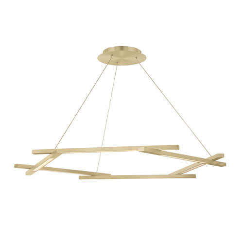 Metric Brushed Brass 12-Inch LED Pendant
