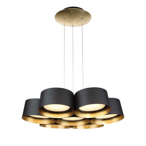 Modern Forms Marimba Gold Leaf 24-Inch LED Chandelier