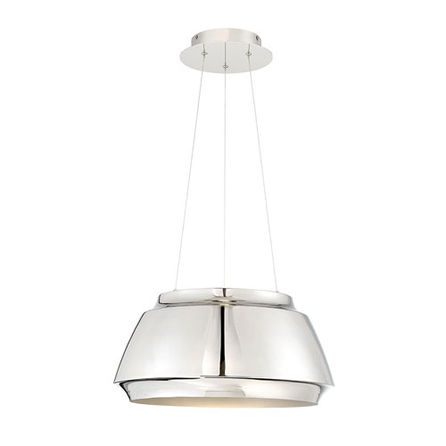 Modern Forms Chromium Polished Nickel 18-Inch LED Pendant