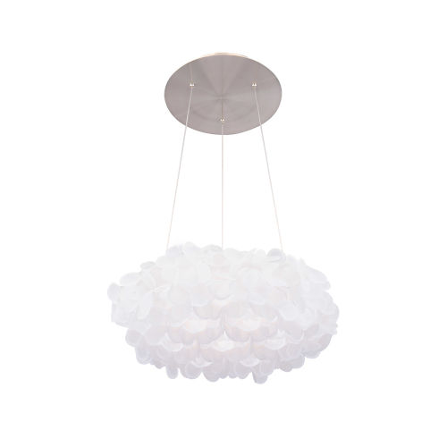 Fluffy Brushed Nickel 22-Inch LED  Pendant