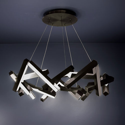 Modern Forms Chaos Black 34-Inch LED Chandelier