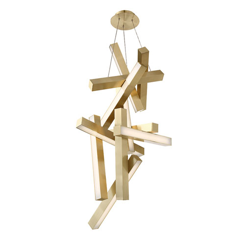 Modern Forms Chaos Aged Brass 25-Inch LED Chandelier