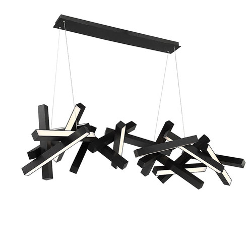 Modern Forms Chaos Black 72-Inch LED Chandelier