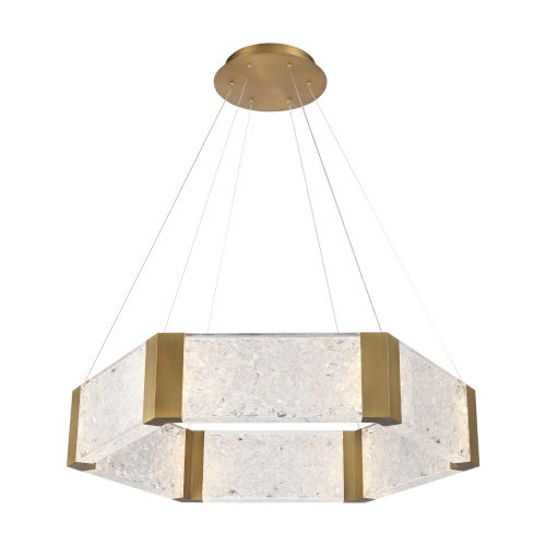 Forever Aged Brass LED Chandelier