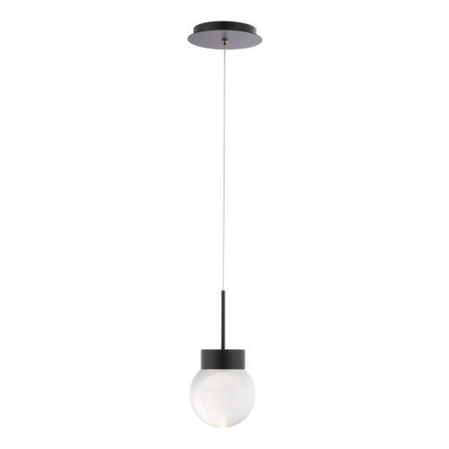 Double Bubble Black LED Mini Pendant