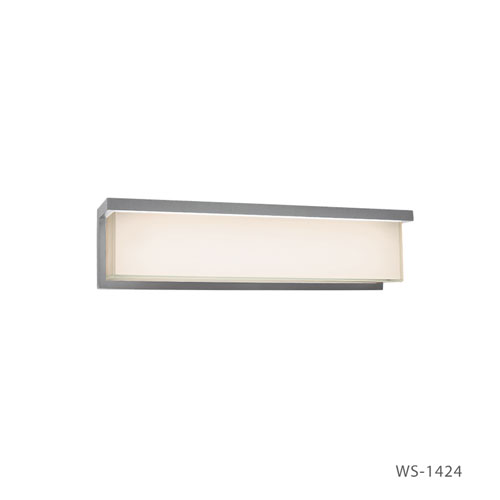 Modern Forms Ledge Brushed Aluminum 24-Inch LED Bath Light