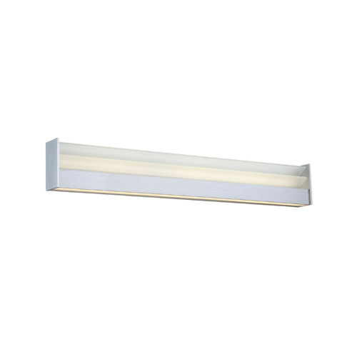Modern Forms Louvre Brushed Aluminum 28-Inch LED Bath Light