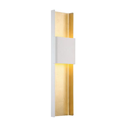 Modern Forms Tribeca White Gold Leaf 8-Inch LED Wall Sconce