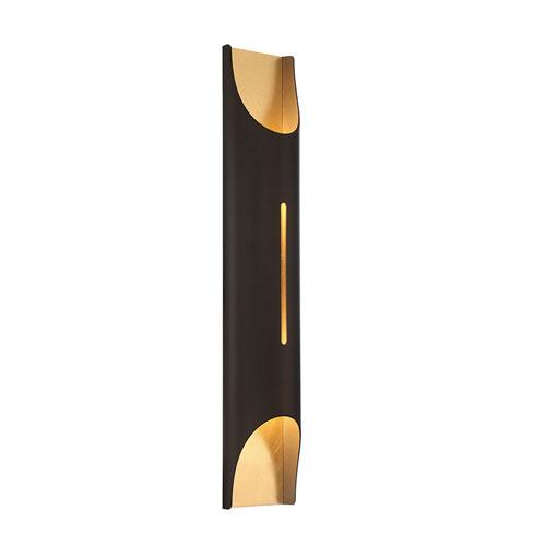 Modern Forms Mulholland Bronze Gold Leaf 6-Inch LED Wall Sconce