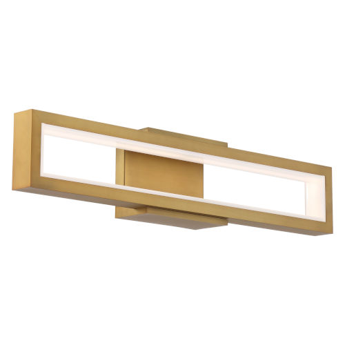 Mies Aged Brass 27-Inch LED Wall Sconce