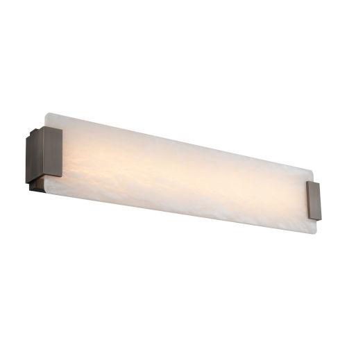 Quarry Brushed Nickel 28-Inch LED Bath Vanity