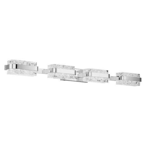 Forbes Polished Nickel Four-Light LED Bath Vanity