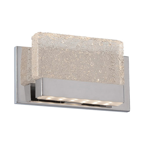 Modern Forms Glacier Chrome 9-Inch LED Wall Sconce