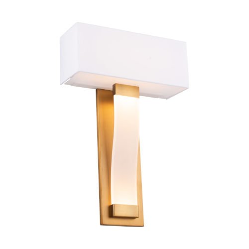Diplomat Aged Brass Two-Light LED ADA Wall Sconce