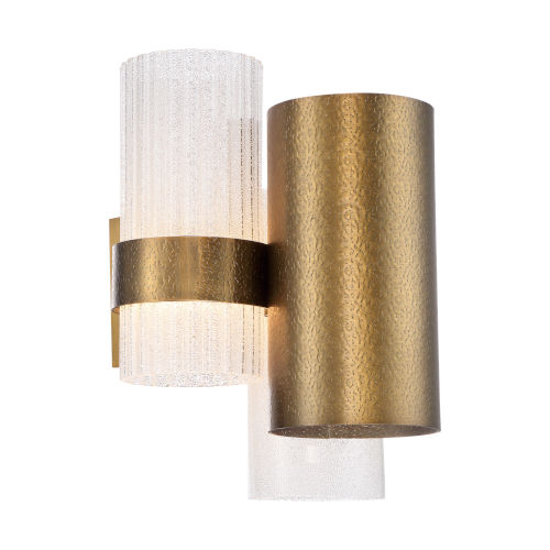Harmony Aged Brass Two-Light LED Wall Sconce