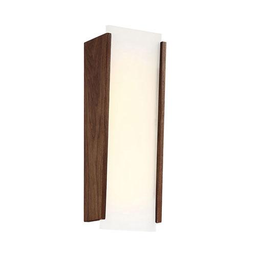 Modern Forms Elysia Dark Walnut 17-Inch LED Wall Sconce