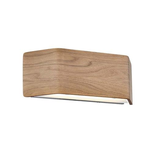 Modern Forms Asgard Walnut 14-Inch LED Wall Sconce