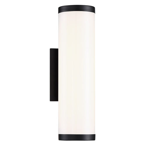 Lithium Black 5-Inch LED Outdoor Wall Light