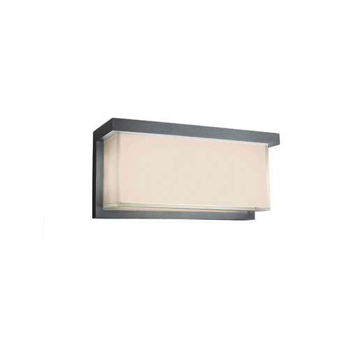 Modern Forms Ledge Graphite 12-Inch LED Outdoor Wall Light