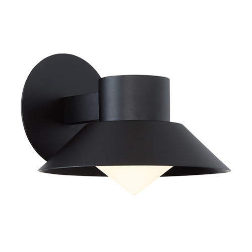Modern Forms Oslo Black 10-Inch LED Outdoor Wall Light