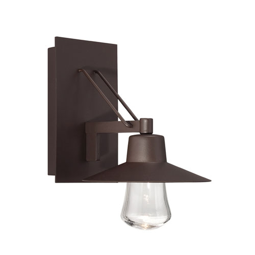 Modern Forms Suspense Bronze 8-Inch LED Outdoor Wall Light