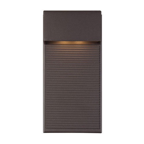 Hiline Bronze 6-Inch LED Outdoor Wall Light