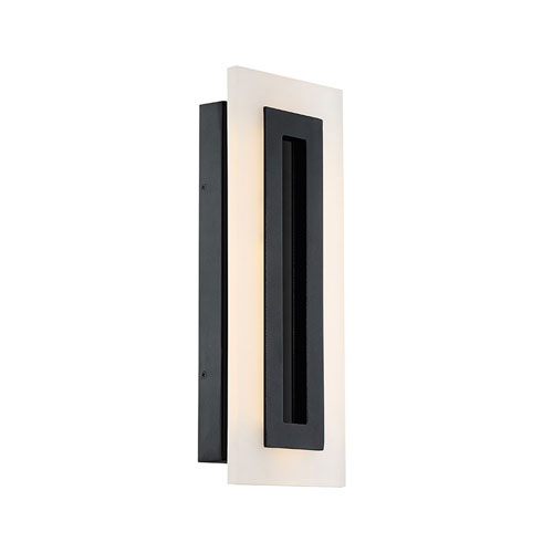 Modern Forms Shadow Black 6.5-Inch LED Outdoor Wall Light