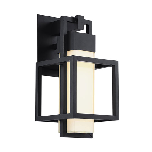 Modern Forms Logic Black 7.5-Inch LED Outdoor Wall Light